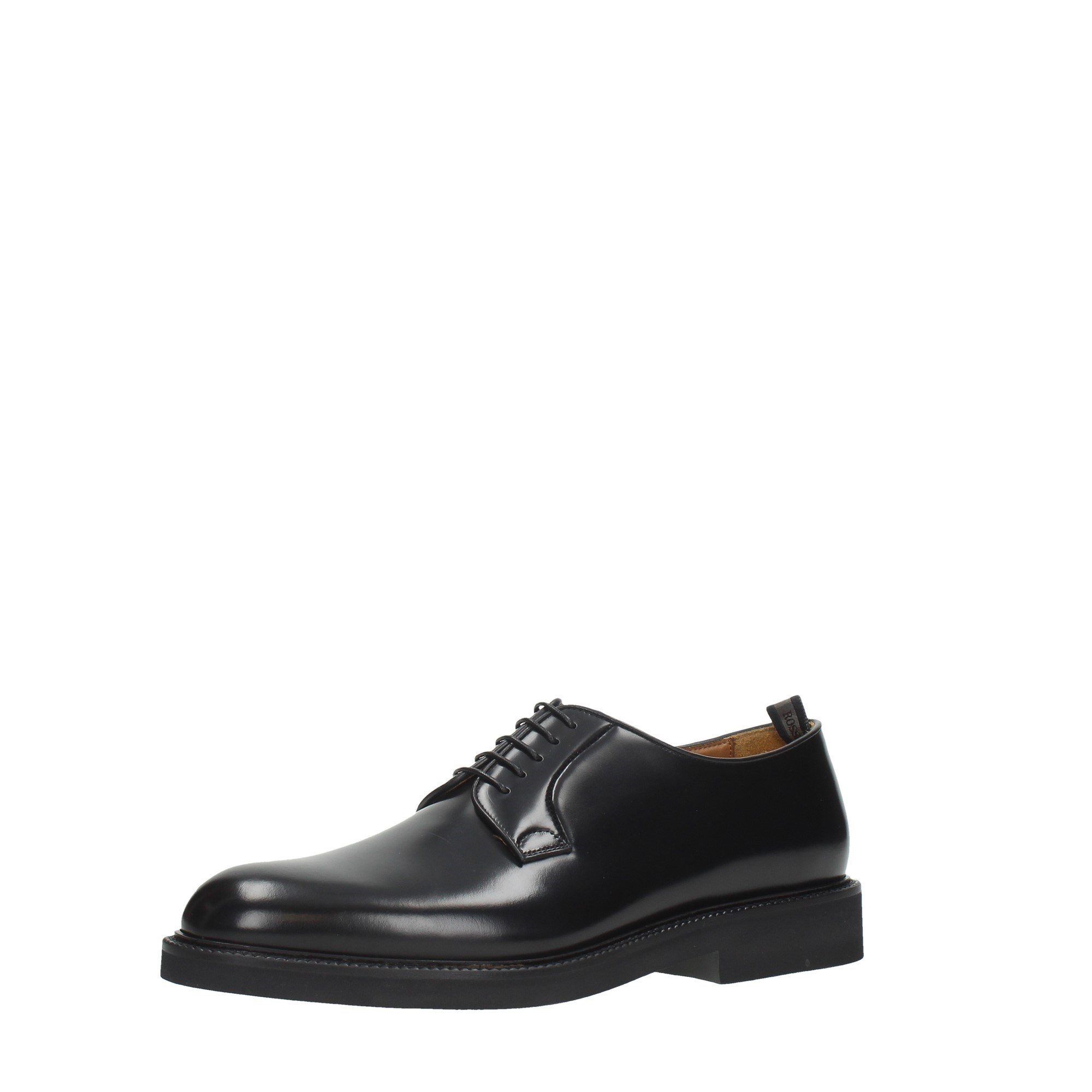 Rossi Shoes Man Laced Black 6403