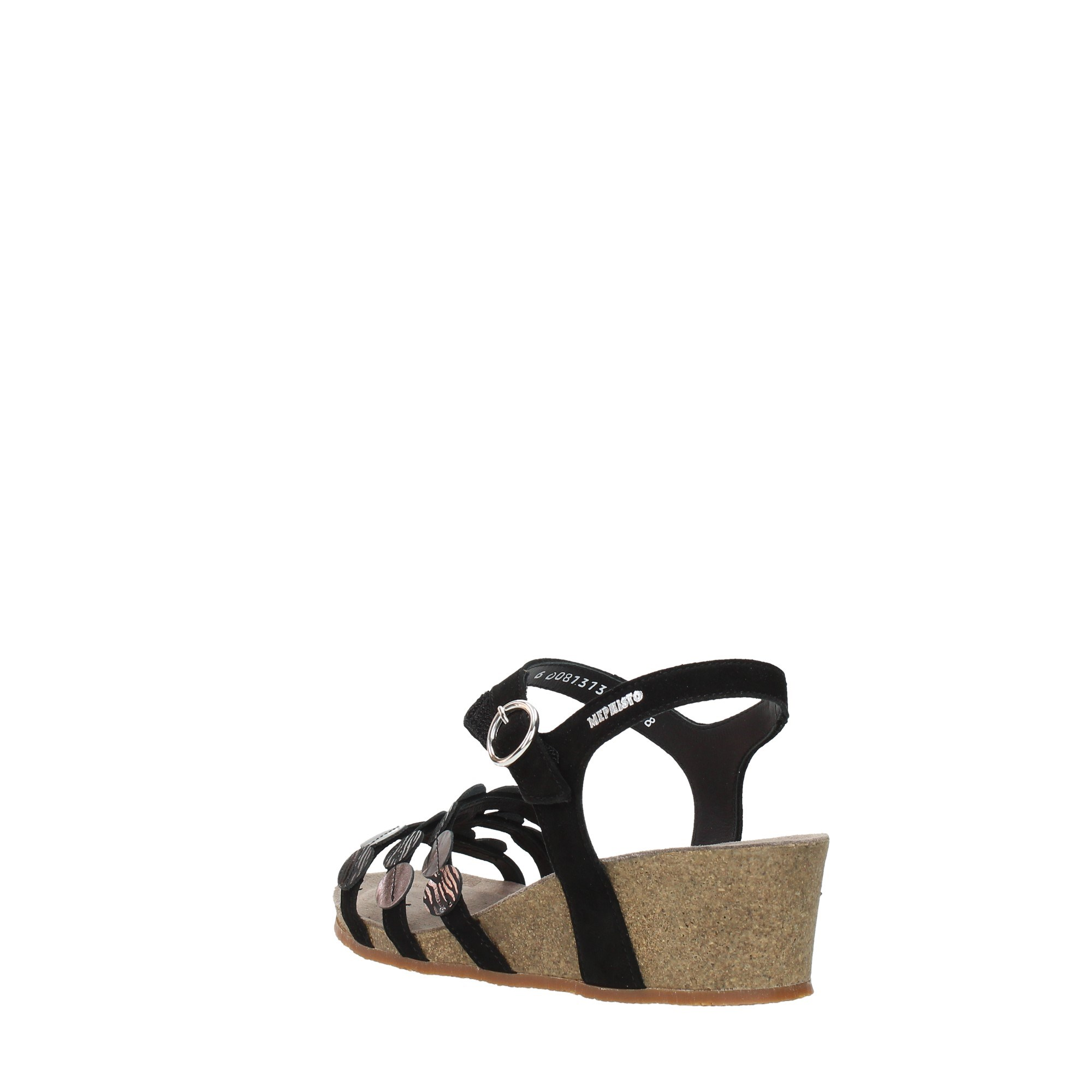 Mephisto Shoes Women Wedge Sandals Black MATILDE