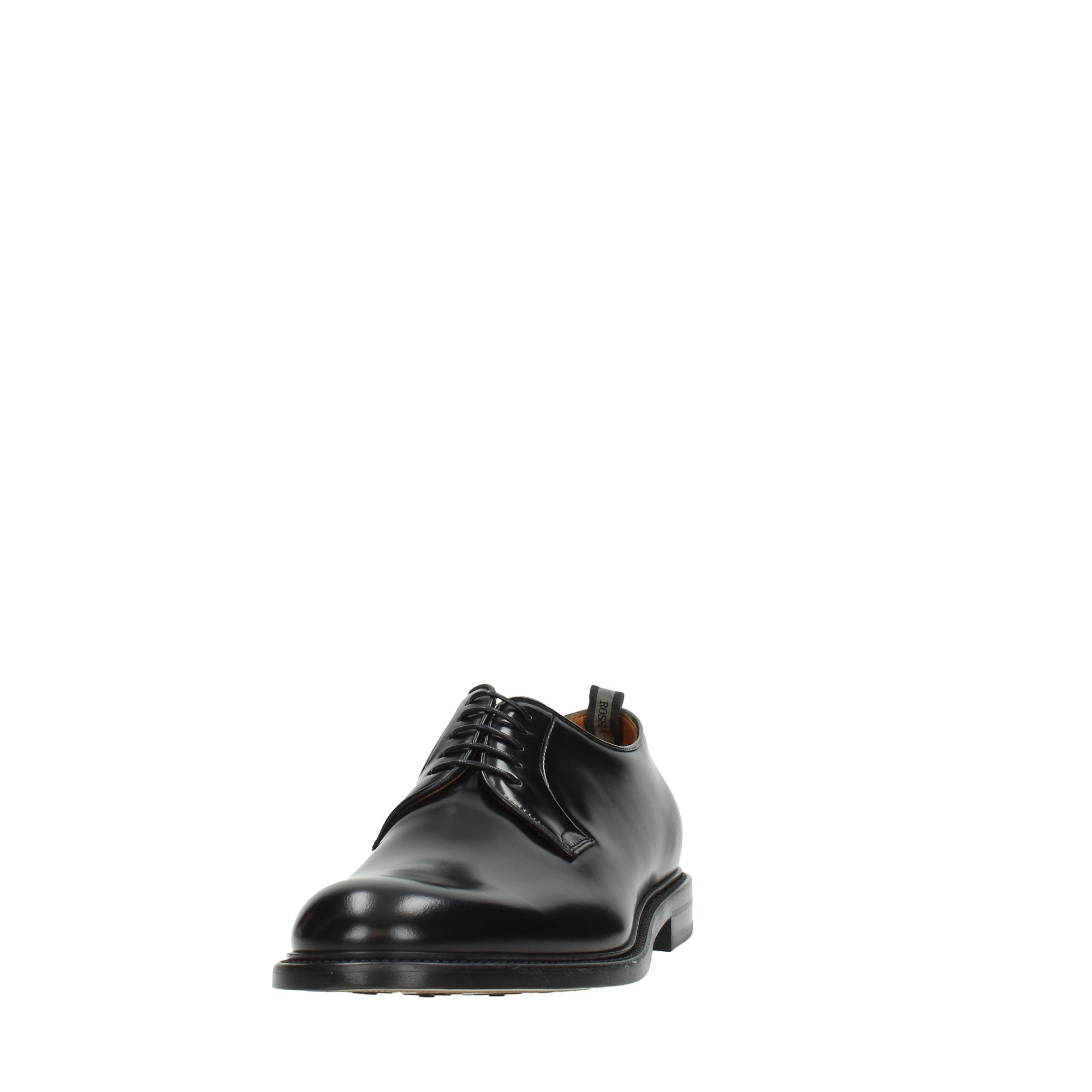 Rossi Shoes Man Laced Black 8699
