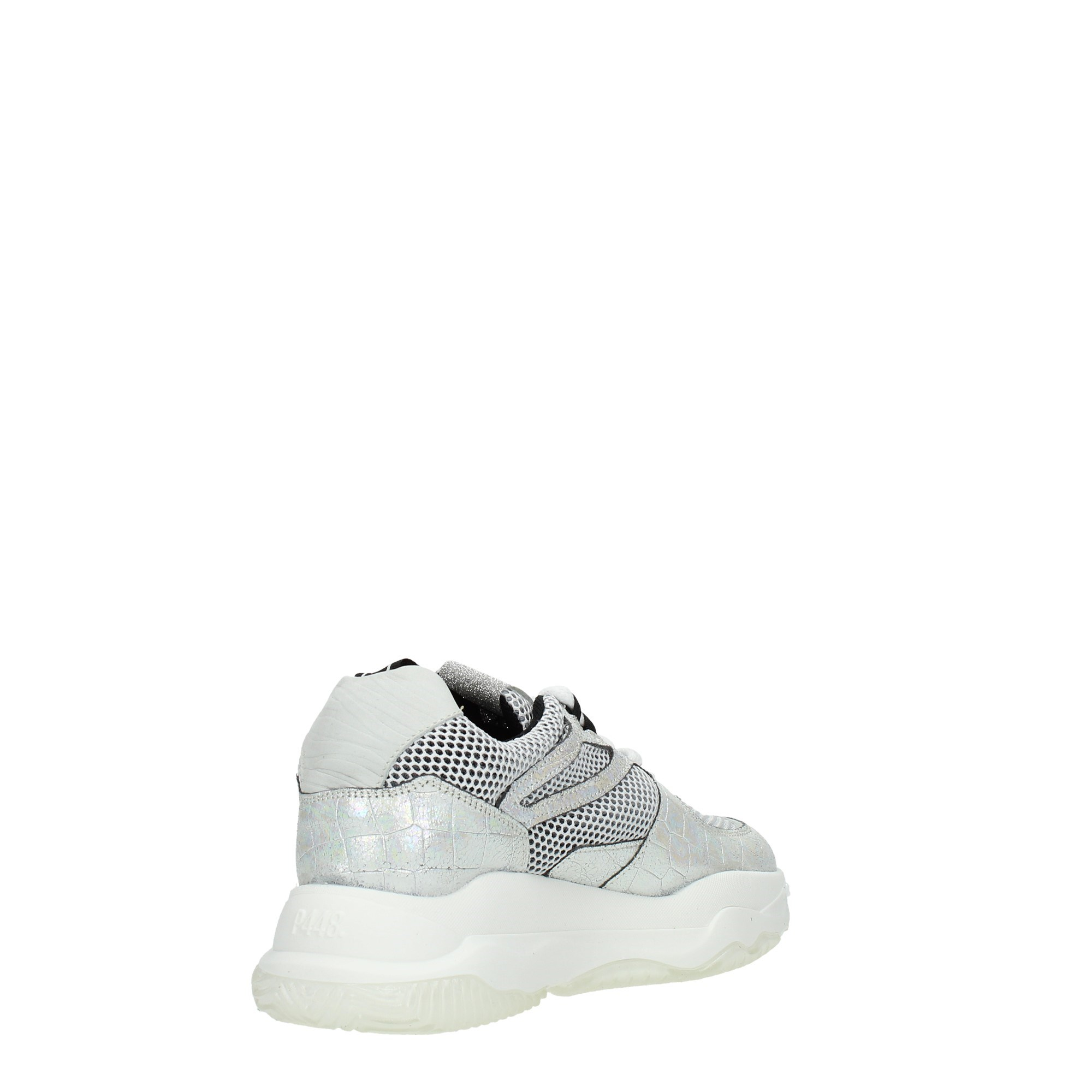 P448 Shoes Women Sneakers Silver LUKE WHITE