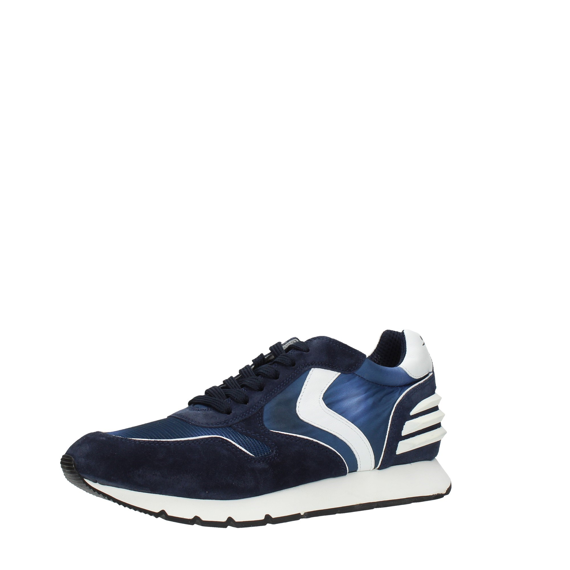Voile Blanche Shoes Man Sneakers Blue LIAM POWER SUEDE PRI