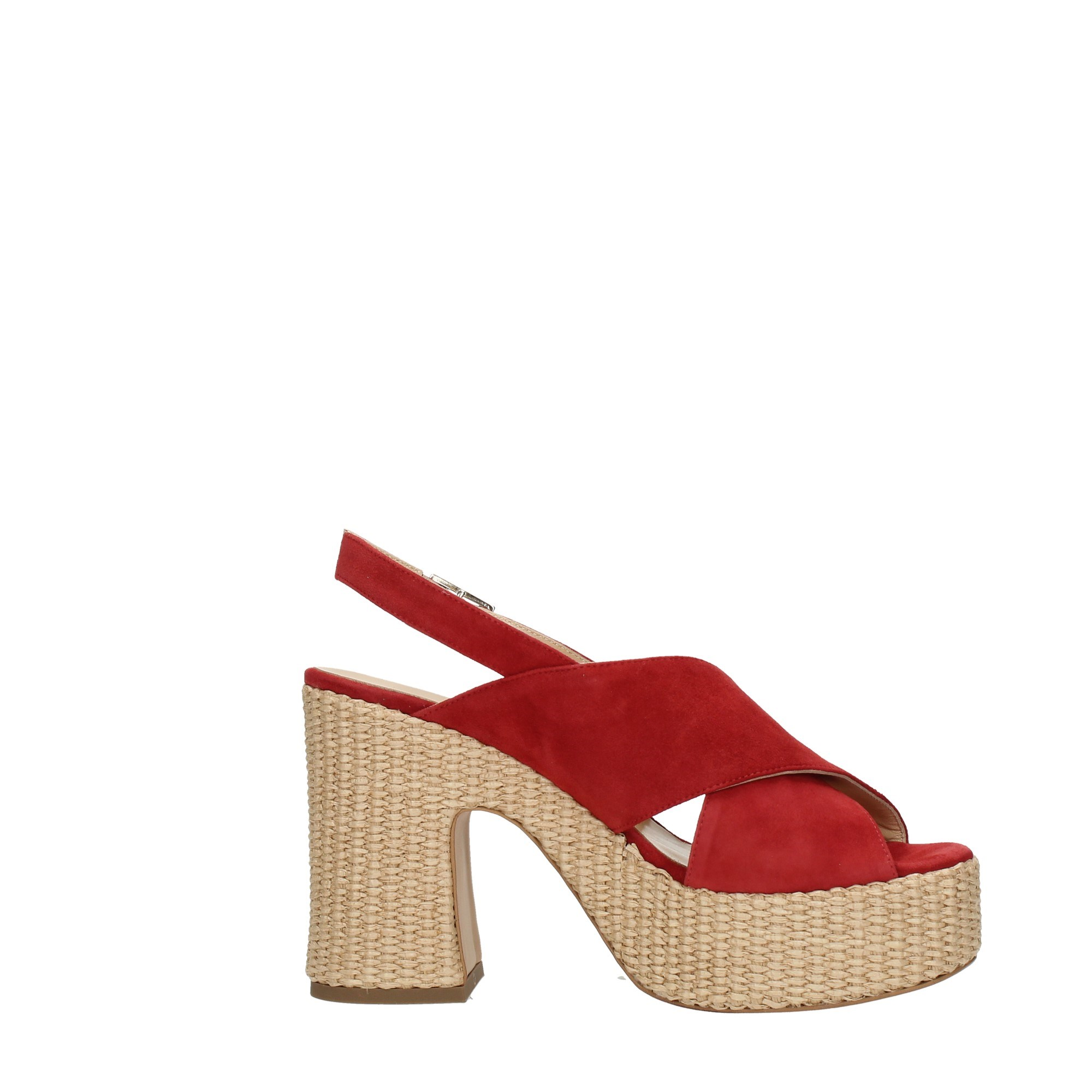 Shada Shoes Women Wedge Sandals Red R116