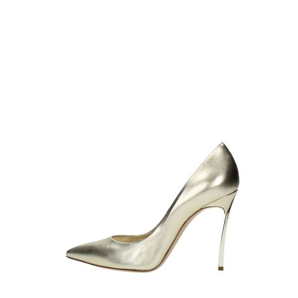 Casadei Cleavage And Heeled Shoes Gold