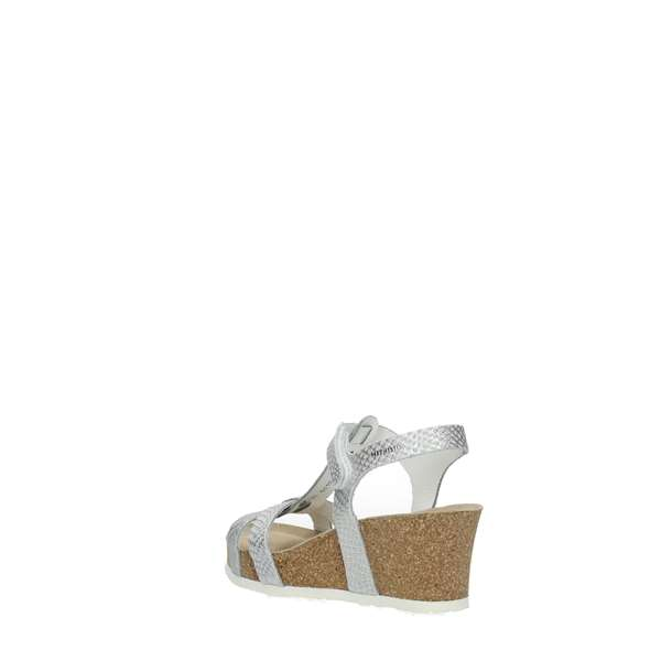 Mephisto Wedge Sandals Silver