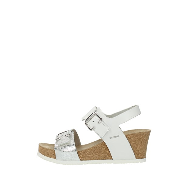 Mephisto Wedge Sandals White