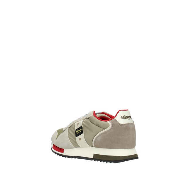 Blauer Sneakers Taupe