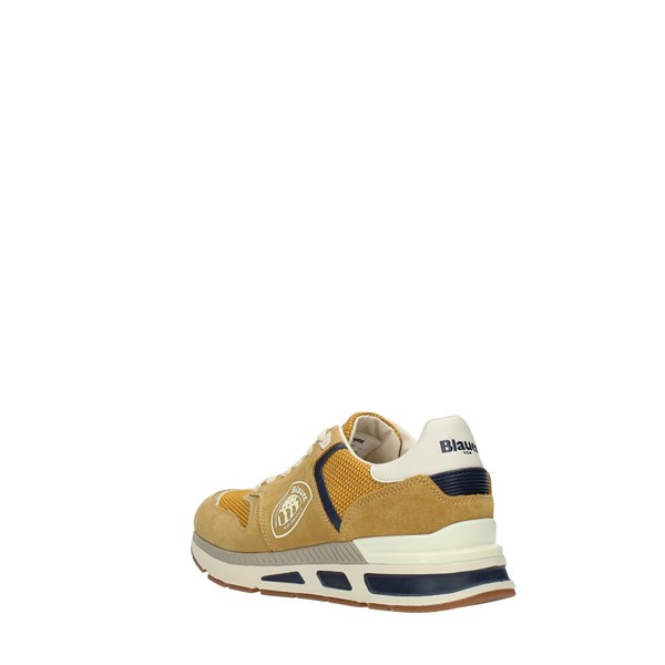 Blauer Sneakers Yellow