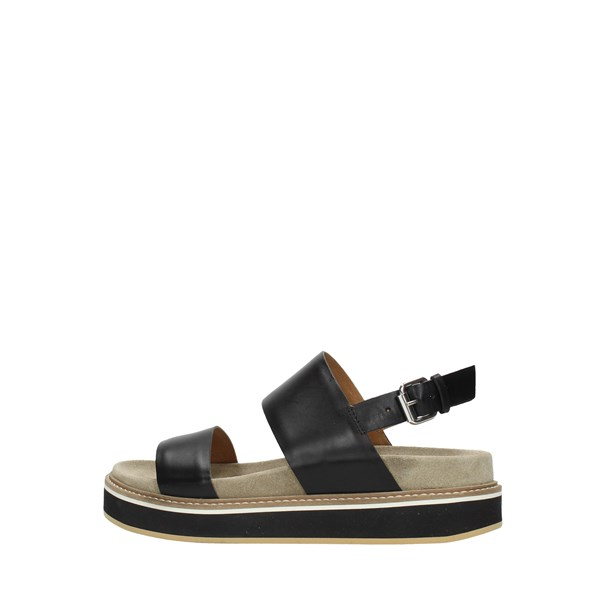 Janet Sport Wedge Sandals Black