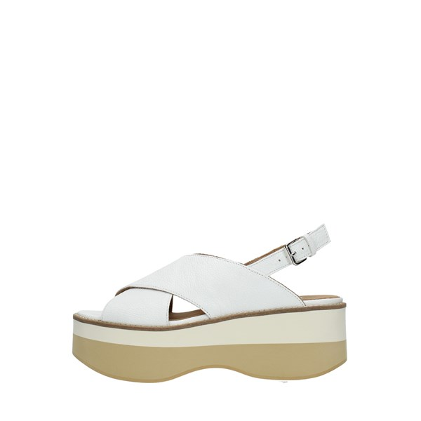 Janet Sport Wedge Sandals White