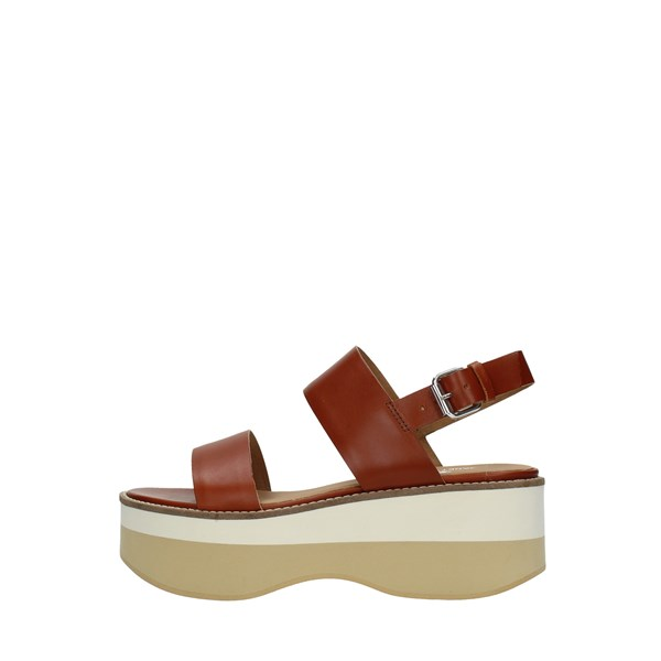Janet Sport Wedge Sandals Leather