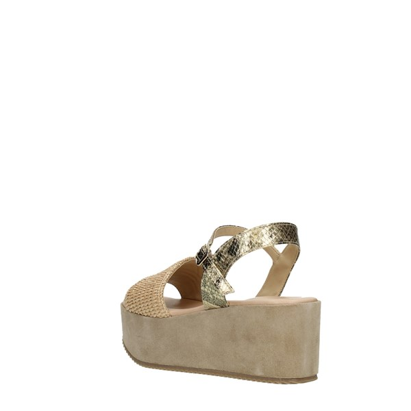 Elisa Conte Wedge Sandals Beige