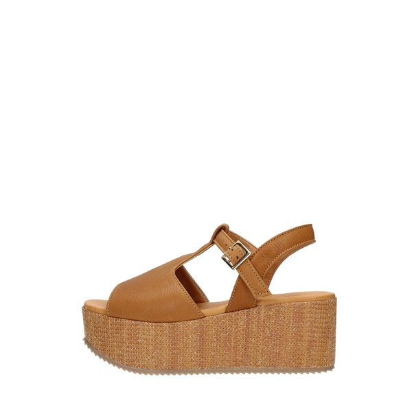 Elisa Conte Wedge Sandals Leather
