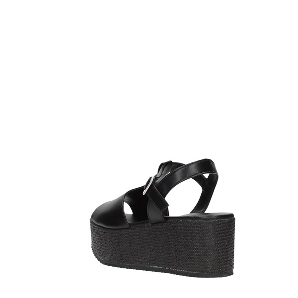 Elisa Conte Wedge Sandals Black