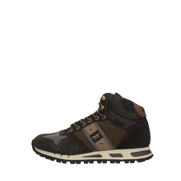 Blauer Sneakers Brown