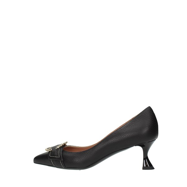 Pollini Cleavage And Heeled Shoes Black