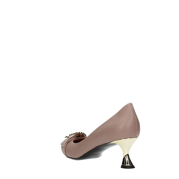 Pollini Cleavage And Heeled Shoes Pink