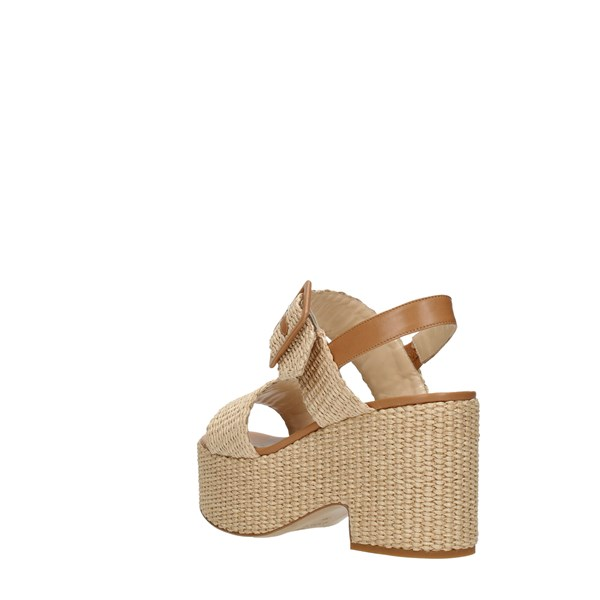Shada Wedge Sandals Beige