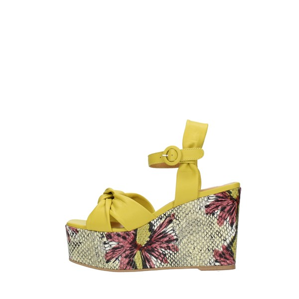 Silvia   Rossini Wedge Sandals Yellow