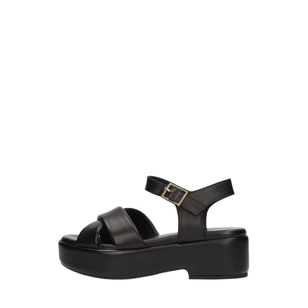 Silvia   Rossini Wedge Sandals Black