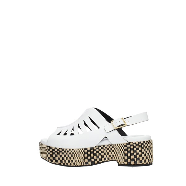 Silvia   Rossini Wedge Sandals White
