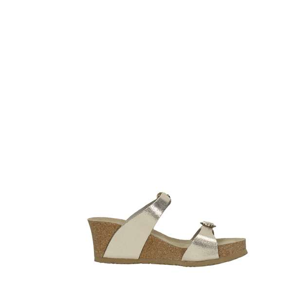 Mephisto Shoes Women Wedge Sandals Gold LIDIA