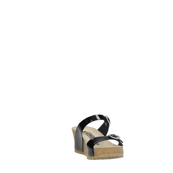 Mephisto Shoes Women Wedge Sandals Black LIDIA