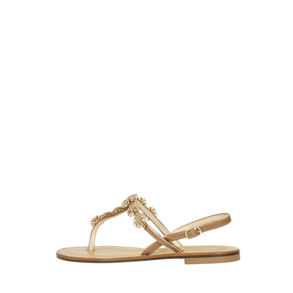 Borboniqua Shoes Women Flops Gold PORTA CARBONARA