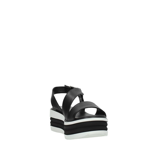 Gianmarco Sorelli Shoes Women Wedge Sandals Black 1998